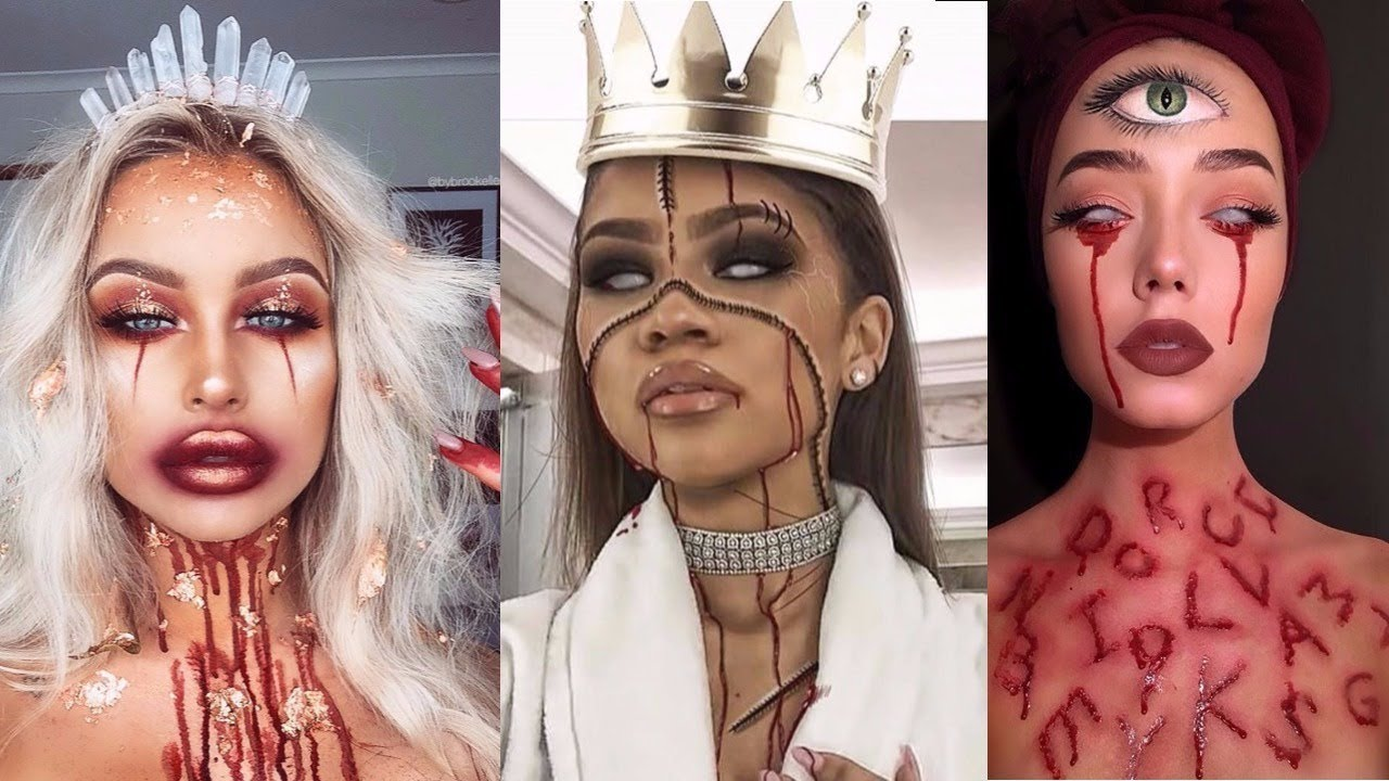 Top 15 Easy Halloween Makeup Tutorials 2017