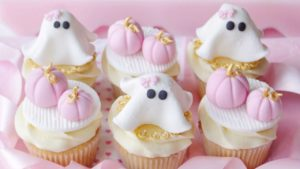 HALLOWEEN CUPCAKES: PINK PUMPKINS & GIRLY GHOSTS 👻🎀
