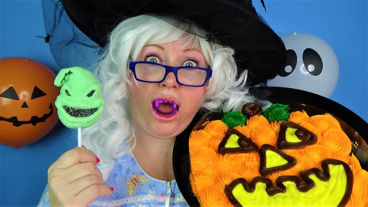 Halloween Candy Challenge Granny Gummy Cookies Cupcakes Chocolate Prizes