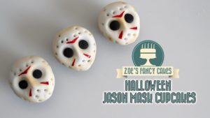 Friday 13th Jason mask cupcakes Halloween