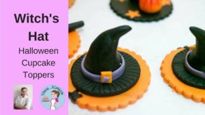 Fondant Witch Hat Cupcake Topper – Halloween Cupcake Tutorial