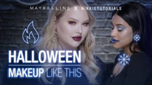 Fire and Ice Halloween Makeup Tutorial Ft. NikkieTutorials + Cathyobv